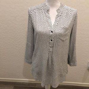 41 Hawthorn Heart print top - Size Large